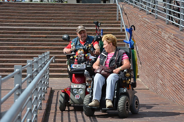 Couple in Wheel Chairs